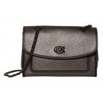 Metallic Leather Binding Soft Parker Shoulder Bag Metallic Graphite