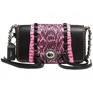Whipstitch Snake Dinkier Black Neon Pink