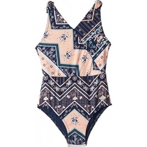 Heart in the Waves One-Piece Swimsuit (Big Kids)
