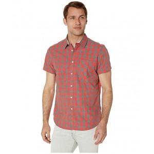 Short Sleeve Heather Check Shirt Cayenne
