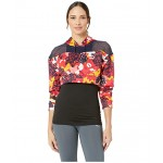 Flourish Touch of Life Cropped Hoodie Hibiscus Multi