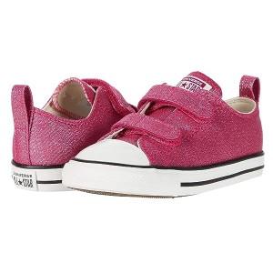 Converse Kids Chuck Taylor All Star 2V Summer Sparkle - Ox (Infantu002FToddler) Cerise Pink/Natural Ivory/Vintage White