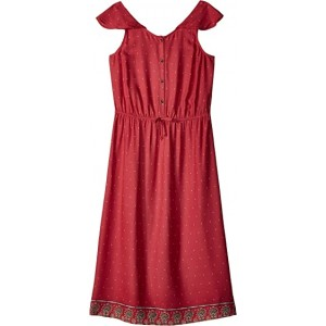 Blooming Love Dress (Big Kids) Holly Berry Perfect Wave Border