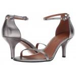 Heeled Sandal Gunmetal Metallic Leather