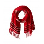 Chimayo Blanket Scarf Red/Black/Cream