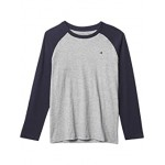 Tommy Hilfiger Kids Raglan Long Sleeve T-Shirt (Big Kids) Grey Heather