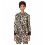 Dashing Beauty Leopard Terry Hoodie Roasted Peanut