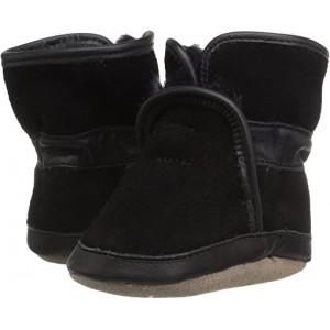 Robeez Cozy Ankle Bootie Soft Sole (Infantu002FToddler) Black
