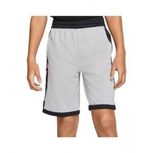 Nike Kids Dry Elite Basketball Shorts (Little Kidsu002FBig Kids) Light Smoke Grey/Black/Magic Flamingo