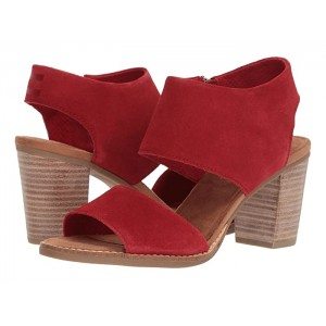Majorca Cutout Sandal Red Suede