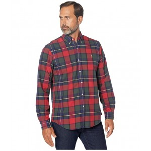 Classic Fit Plaid Oxford Shirt Rustic Red/Yellow Multi