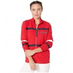 Multi Trim Zip Jacket Scarlet