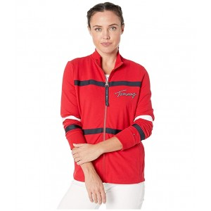 Multi Trim Zip Jacket Scarlet