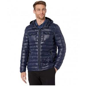 Packable Double Pocket Jacket w/ Hood Navy