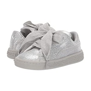 Basket Heart Holiday Glamour Inf (Toddler) Puma Silver/Gray Violet