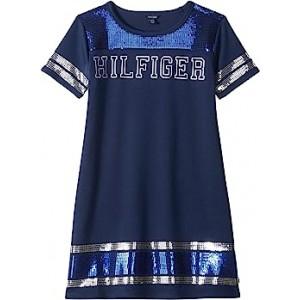 Stripe Trim Dress (Big Kids) Flag Blue