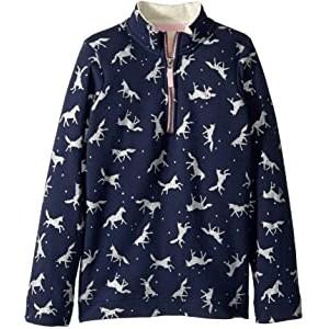 1/2 Zip Pullover Sweatshirt with Sherpa Trim (Toddler/Little Kids/Big Kids)