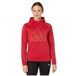 Team Issue Badge of Sport Hoodie Active Maroon/Hi-Res Coral