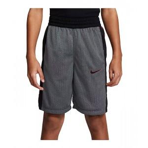 Nike Kids Elite Reversible Shorts (Little Kidsu002FBig Kids) Iron Grey/Black/White