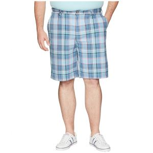 Big & Tall Roadmap Plaid Shorts Noon Blue