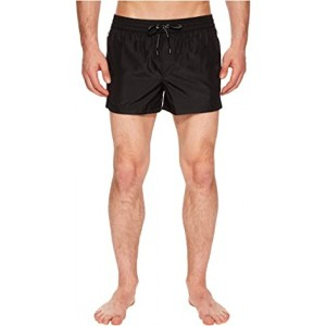 Solid Short Boxer Swimsuit w/ Bag Black