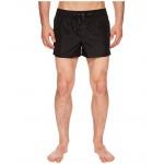 Solid Short Boxer Swimsuit w/ Bag Black