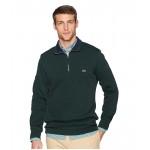 Long Sleeve Semi Fancy Front Zip w/ Rib Knit Detail