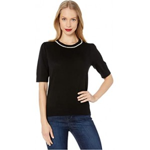 Pearl Pave Sweater Black