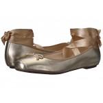 Downtown Ballet Gold Metallic Leather