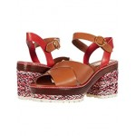 Tory Burch Miranda 80 mm Espadrille Sandal Ambra/Brilliant Red