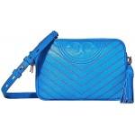 Tory Burch Fleming Distressed Camera Bag Tropical Blue