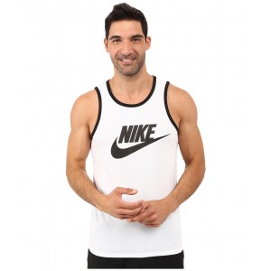 Ace Logo Tank Top White/Black/Black