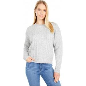 Crew Neck Long Sleeve Sweater Grey