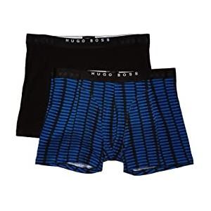 2-Pack Boxer Brief Print Bright Blue Pattern/Black