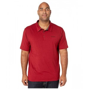 Columbia Big & Tall Tech Trail Polo Red Jasper