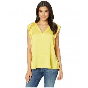 Flutter Sleeve Top Golden Yellow