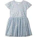 Short Sleeve Tulle Dress with Shell Foil (Toddler/Little Kids/Big Kids)