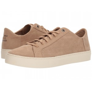 Lenox Toffee Perforated Synthetic Suede
