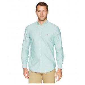 Oxford Button Down Sport Shirt Hunter Green/White