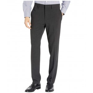 Stretch Flannel Slim Fit Flat Front Dress Pants Charcoal Heather
