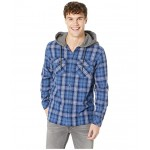The Magston Hooded Flannel Medieval Blue Magston