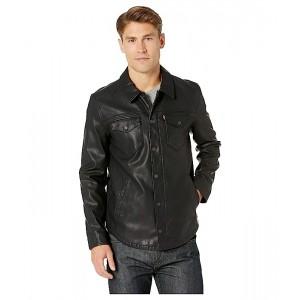 Levis Faux Leather Shirt Jacket Black