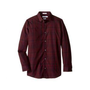 Long Sleeve Conversion Plaid Shirt (Big Kids) Dark Purple