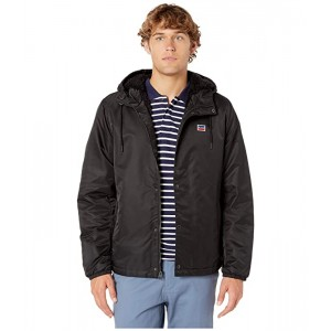 Levis Flight Satin Coaches Hoodie with Bunny Sherpa Black