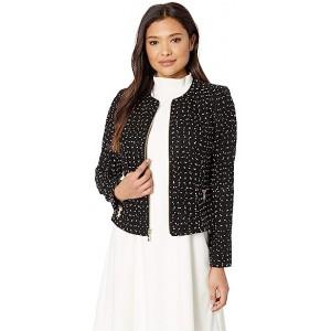 Tweed Peplum Jacket Black/Ivory