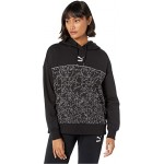 Classics Logo Hoodie All Over Print Black