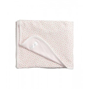 Floral-Print Cotton Blanket