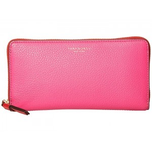 Perry Color-Block Zip Continental Wallet Crazy Pink/Mango