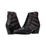 COACH Paisley Leather Bootie Black