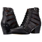 Paisley Leather Bootie
